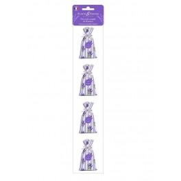 Lavendelposer, sæt med 4 × 18 g