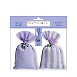 Lavendelposer, sæt med 2 × 20 g incl. gipslavendel